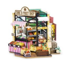 ROBOTIME DG142 Carl's Fruit Shop – Happy Corner DIY Dollhouse